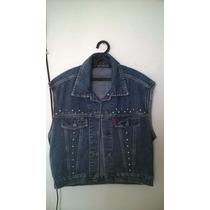 Colete Jeans Masculino / Unissex Customizado Com Spikes