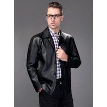 Jaqueta De Couro M- Importado Legítimo Elegante Masculino