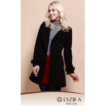 Trench Coat Importado Gg Luxuoso Modelo Clássico Elegante Lã