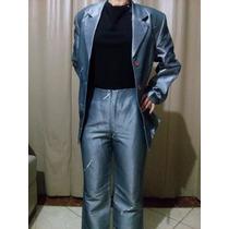 Conjunto Social Prata Ou Azul Quatsi Blazer E Calça
