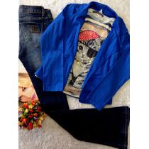 Casaqueto Sarja Azul Tam P