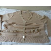 Suéter Blusa Talbots Fem. Importada Tam. L=g. Bege