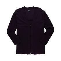 Elementz Knit Womens 2 Fer Cardigan Sweater