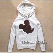 Frete Grátis - Blusa/agasalho De Moletom Do Mickey Feminina