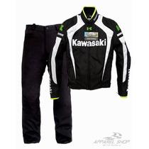 Conjuto Jaqueta Calça Kawasaki Moto Racing Oferta Relâmpago