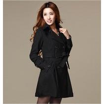 Sobretudo Importado- Gg Trench Coat Elegante E Charmoso Lã