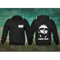 Jaqueta Moletom Linkin Park Bandas Rock Capuz Casaco