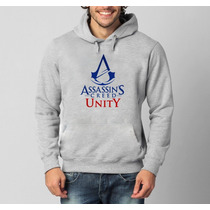 Blusa Moletom Assassin´s Creed Unity Canguru Com Capuz