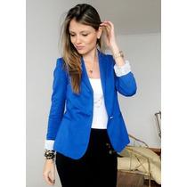 Pronta Entrega! Blazer Azul Bic Tamanho Grande 40/42