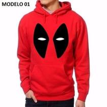 Moletom Canguru Blusa Deadpool Marvel 6 Modelos Exclusivos !