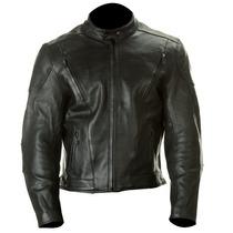 Jaqueta/casaco Couro Xelement Preto Liso Harley