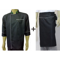 Doma Preta+avental Chef Gastronomia, Cozinheiro