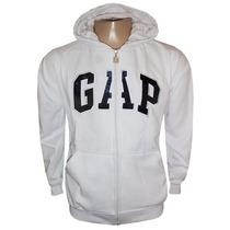 Blusa Moletom Gap Branca Com Zíper