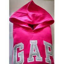 Blusa Gap 100% Original Na Cor Pink Com Logo Cinza