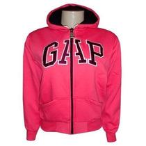 Blusa Moletom Gap Feminina C/ Ziper Rosa Claro