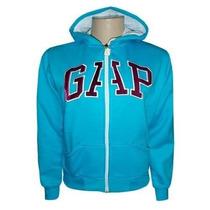 Blusa Moletom Gap Feminina C/ Ziper Azul Claro