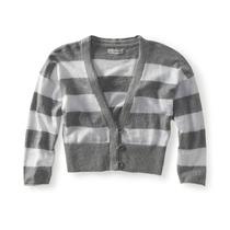 Aeropostale Colhida Mulheres Stripe Cardigan Sweater