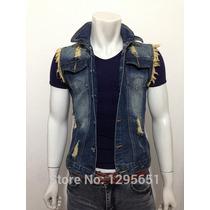 Colete Jeans Masculino Pronta Entrega Importado Envio Ja