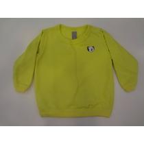 Blusa Tigor T. Tigre Em Meia Malha Moletom - Verde Limão