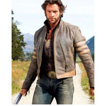Jaqueta Masculina Wolverine X-men Origins Camel