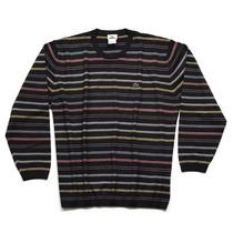 Lacoste - Suéter Listrado- Masculino