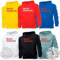 Blusa Iron Maiden Canguru Otima Qualidade!