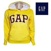 Blusa De Moletom Gap Fem. Amarela Frete Grátis