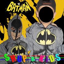 Fantasia Blusa Moleton Infantil - Batman + Frete Gratis