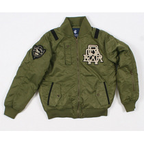 Rocawear Verde Masculino Moda Inverno Varsity Styled Jaqueta