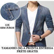 Blazer Jeans Slim Fit Masculino Tamanho M Pronta Entrega