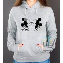 Moletom Minnie Mickey Feminino Blusa Canguru - Promoção
