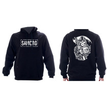 Blusa Moleton Canguru Samcro Sons Of Anarchy Flanelada