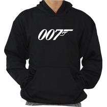 Moleton 007 Espião Blusa Canguru Com Capuz