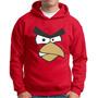 Moletom Angry Birds Vermelho Red Blusa Jogo Angry Birds Red