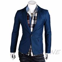 Blazer, Paletó Azul Masculino Estiloso, Novo, Slim, Fit