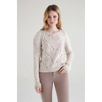 Pullover Feminino Com Tricô Detalhes (suéter) - Knitwear Det