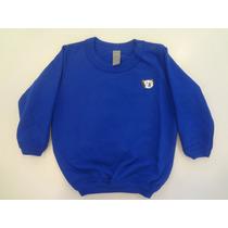 Blusa Tigor T. Tigre Em Meia Malha Moletom - Azul Royal