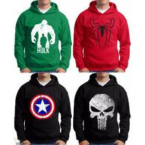 Blusa Moletom Super Herois Justiceito Capitão America Hulk