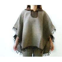 P03 Pala Artesanal Feito Em Lã De Ovelha Poncho Rodeio