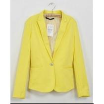 Blazer Amarelo Zara 42