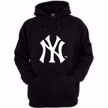 Moletom New York Yankees Nyy Blusa Canguru Capuz Bolso