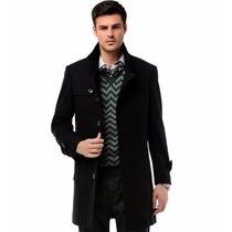 Sobretudo Importado M- Masculino Em Lã Modelo Elegante Preto