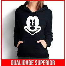 Moletom Mickey Mouse Feminino Casaco Canguru/blusa De Frio