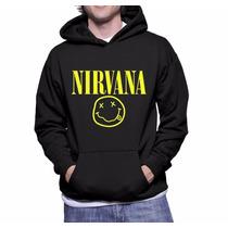 Moletom Nirvana Unisex Blusa Canguru A Melhor Frete Grátis