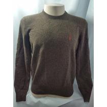 Blusa De Lã Sueter Polo Ralph Lauren Original Marron Masculi