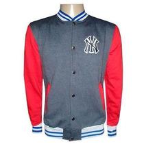 Blusa Moletom New York Yankees Grafite E Vermelho College