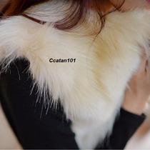 Colete De Pele Coelho Pêlo Ecológica Bicolor Kim Kardashian