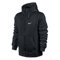 Jaqueta Nike Masculino Club Fz Hoody - Swoosh Preto Original