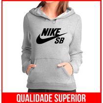 Moletom Nike Sb Feminino Casaco Canguru Blusa Frio Moleton