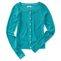 Aeropostale Womens Básico Knit Cardigan Sweater